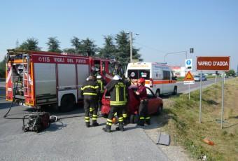 Incidente Stradale con Incarcerato a Pozzo D'Adda.