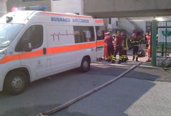 Incendio industria chimica avvenuto a Trezzo sull'Adda.