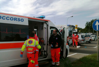 Incidente stradale Vimercate.