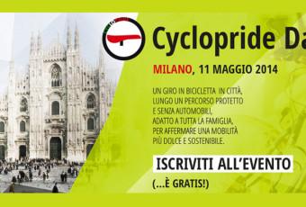 Locandina Cyclopride Milano 2014.