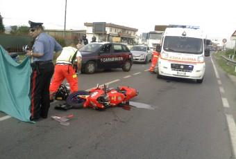 Incidente Stradale Auto-moto a Busnago.
