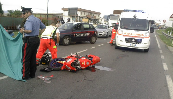 Incidente Stradale Auto-moto a Busnago.