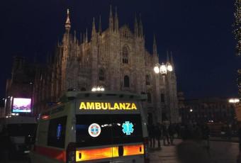 Assistenza sanitaria SOREU Metropolitana concerto capodanno in piazza Duomo a Milano Busnago Soccorso.