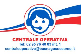 Centrale Operativa di Busnago Soccorso Onlus 02 95764083 interno 1