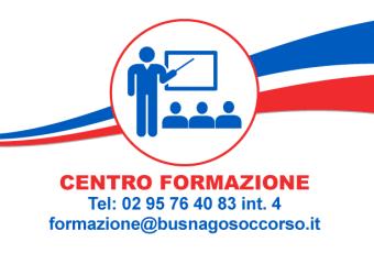 Centro Formazione di Busnago Soccorso Onlus 02 95764083 interno 4