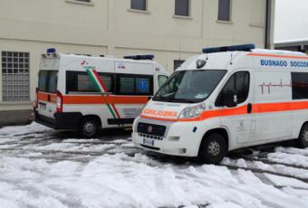 Emergenza Neve Monza Ambulanze ANPAS 12 febbraio 2013.