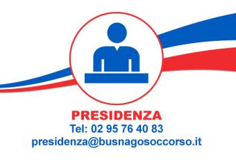 Presidenza di Busnago Soccorso Onlus 02 95764083