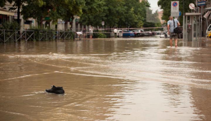 Emergenza esondazione fiume Lambro Milano 2014.