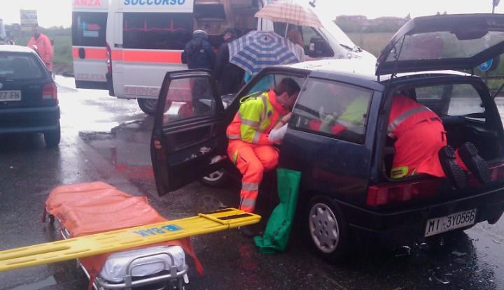 Incidente Stradale sulla SP3 a Bernareggio.