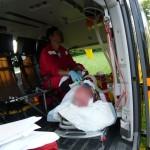 Busnago Soccorso trasferimento paziente ESA elisoccorso bergamo in avaria 220610
