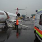 Trasbordo da volo sanitario REGA
