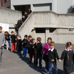 Evacuazione delle scuole elementari di Vaprio d'Adda