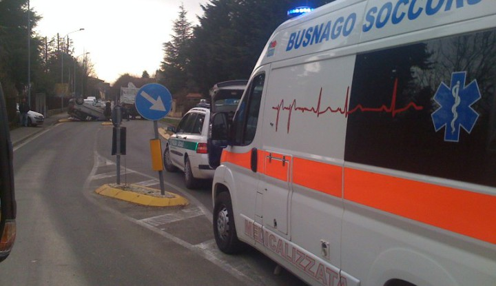 Incidente Stradale a Cavenago Brianza.