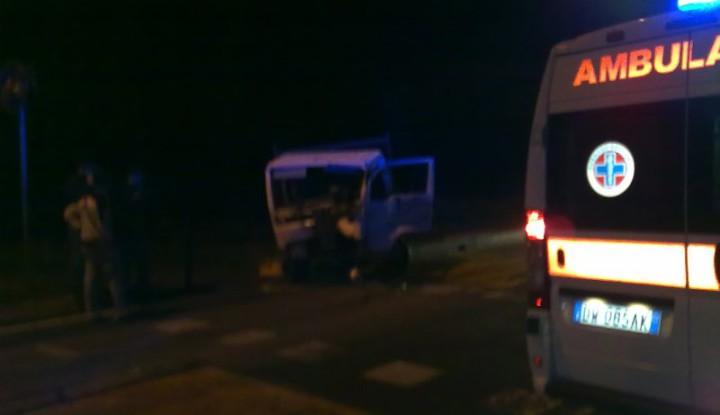 Incidente stradale tra mezzi pesanti, avvenuto a Bellusco.