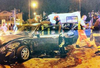 Incidente stradale a Robbiate avvenuto il 20 luglio 2012.