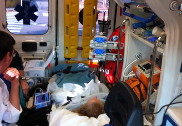 Trasferimento di Paziente Contropulsato dal Presidio Ospedaliero di Desio.