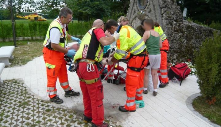 Shock anafilattico ad Ornago. interviene l'Elisoccorso di Milano.