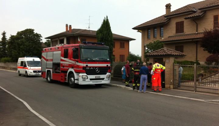 Soccorso Persona A Masate, intervenuti anche i Vigili del fuoco di Gorgonzola.