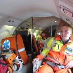 Volo Sanitario con aeromobile di stato Falcon50 Busnago Soccorso