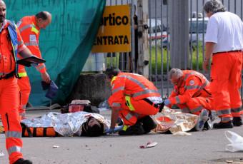 Maxi Emergenza a Basiano per gli scontri tra operai e forze dell'ordine.