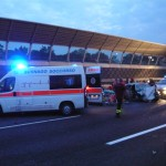 Incidente stradale A4 trezzo 5 feriti.