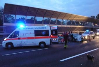 Incidente stradale A4 trezzo 5 feriti.