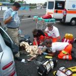 incidente stradale A4 trezzo 100909 5 feriti