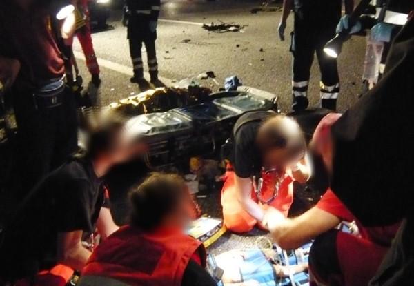 Cinque feriti nell'incidente stradale in A4 direzione Trezzo.