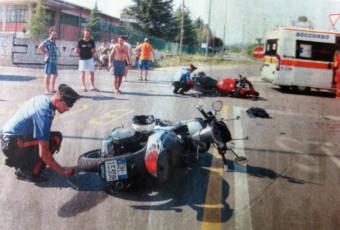 Incidente mortale tra moto a Mezzago avvenuto il 16 agosto 2012.