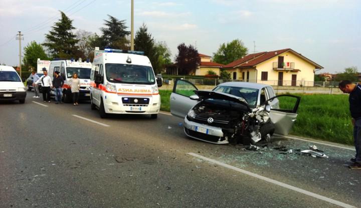 Incidente Stradale sulla Monza-Trezzo, scontro frontale sulla SP2