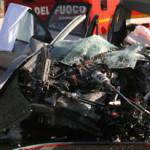 Intervento 118 di Busnago Soccorso Onlus su incidente a Osnago